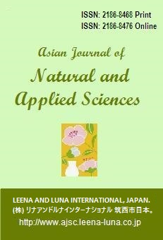 Asian Journal of Natural and Applied Sciences, Oyama, Japan